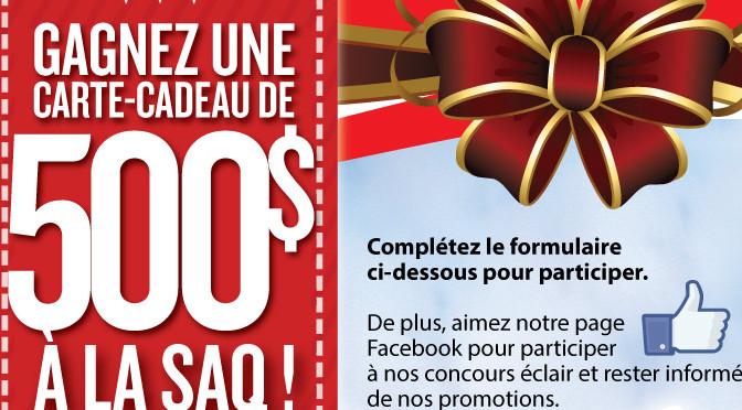 SAQ, concours, carte-cadeau