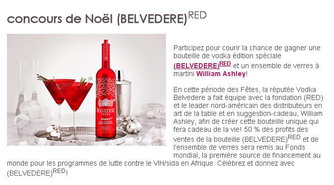 Belvedere, concours