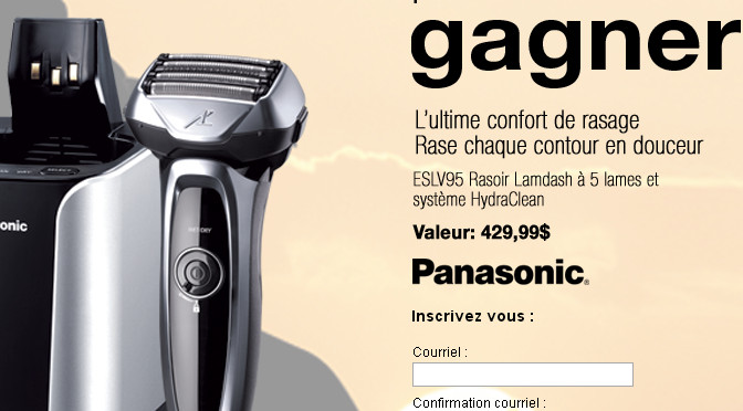 Panasonic, concours, rasoir