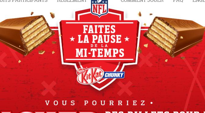Concours, Super Bowl, kitkat