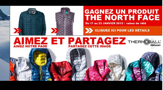 concours North Face