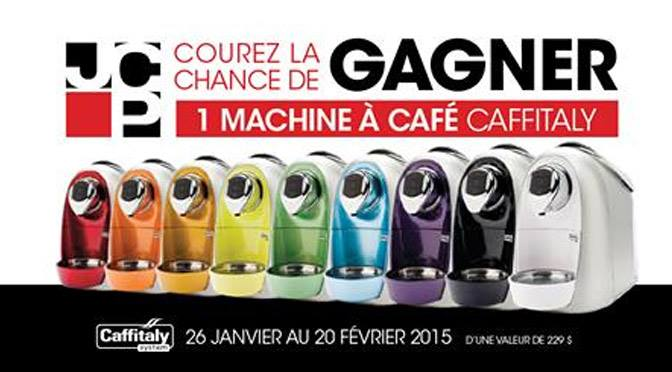 Machine à café Caffitaly à gagner.
