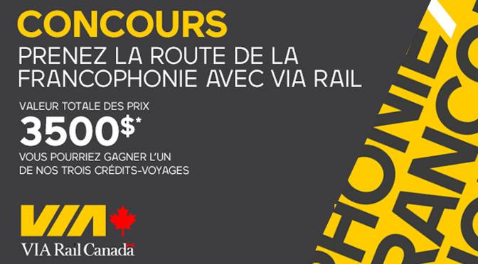 concours via rail francophonie