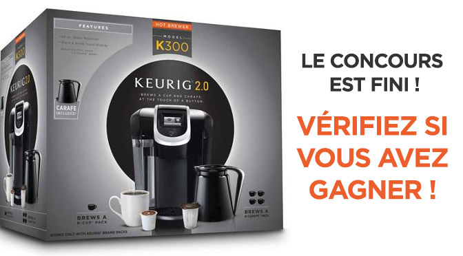 concours keurig 2.0