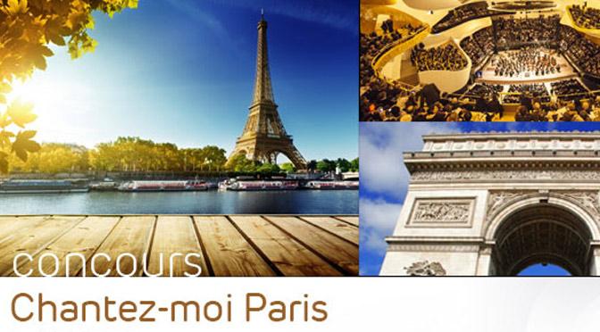 Concours Chantez-moi Paris ! Voyage à pRIS À GAGNER