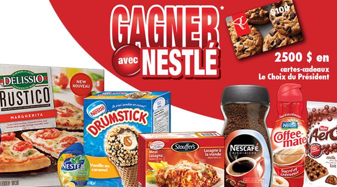 Concours Nestle épicerie a gagner