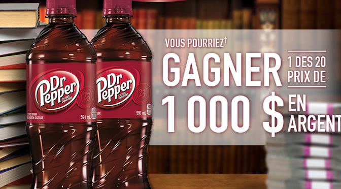 Concour dr.pepper