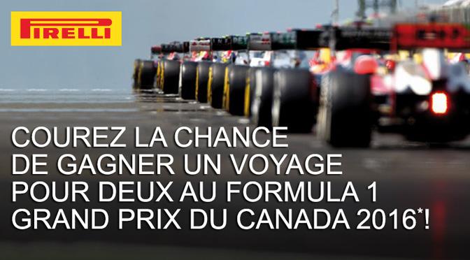 Concours Pirelli F1 Canada