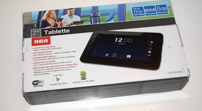 Concours gagnez une tablette android de RCA