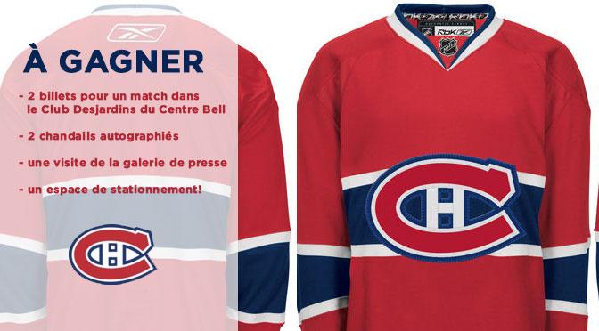 Gagnez un match et un chandail du Canadien de Montréal