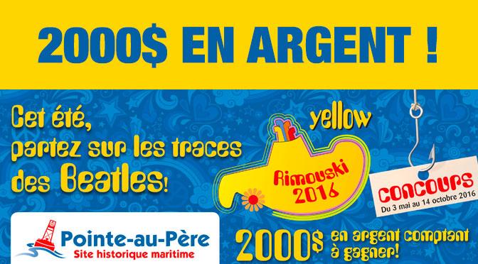 Concours Pointe-au-Pere 2000$ en argent