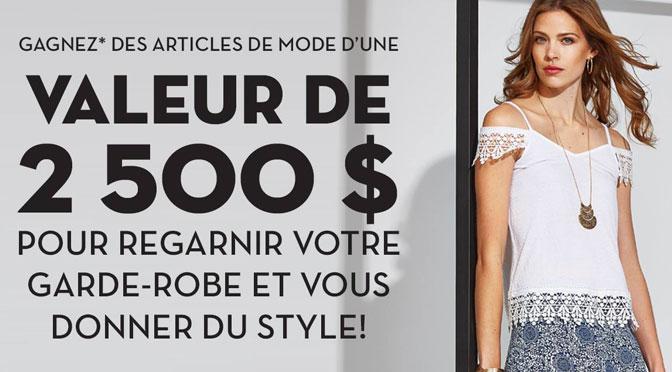 Concours Tigre Géant, 2500$ à gagner en vêtement.