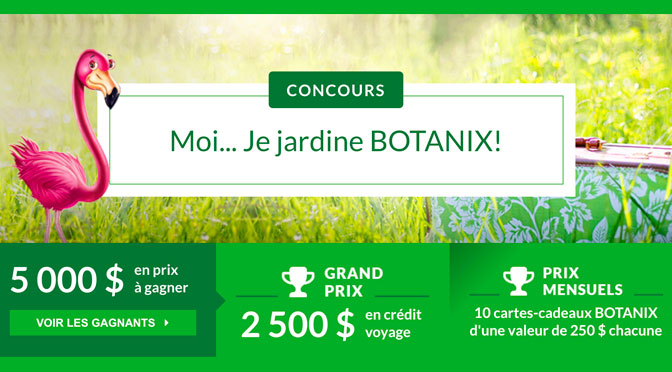 Concours moi je jardine Botanix