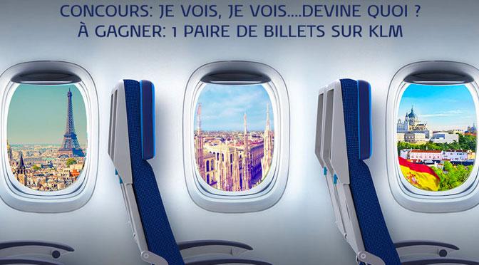 concours Billet d'avion KLM