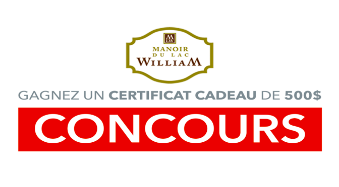 certificat cadeau au manoir du lac william