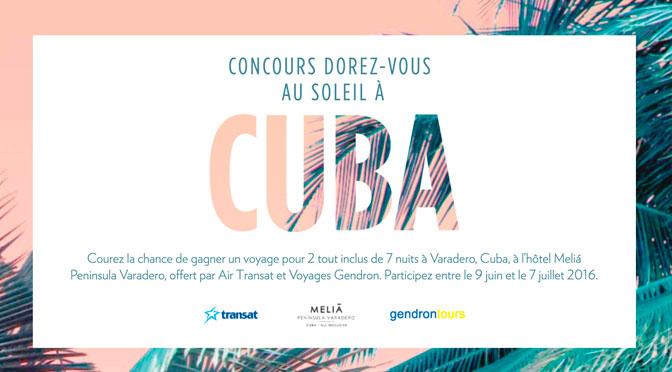 Concours Cuba Reitman's
