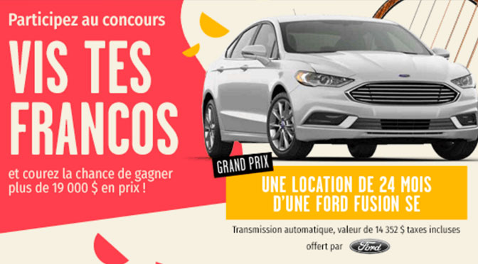Concours Francofolies Ford Fusion