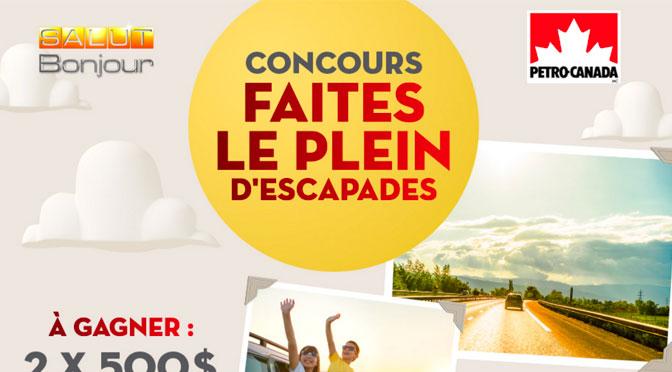 Concours Faites le plein Pettro-Canada et Salut bonjour