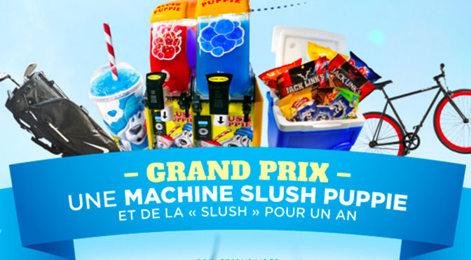 Machine à slush Puppie à gagner