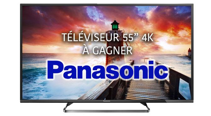 TV Panasonic 55 pouces à gagner Concours