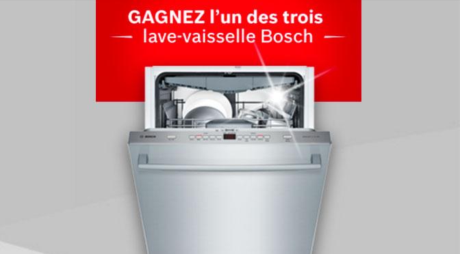 Concours Lave-vaiselle Bosch