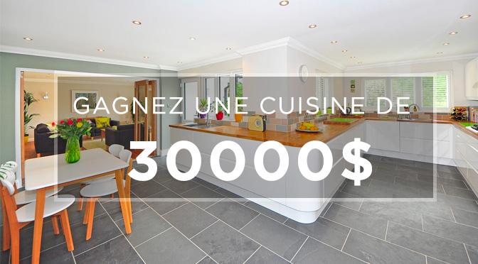 Concours pour une cuisine à 30000$