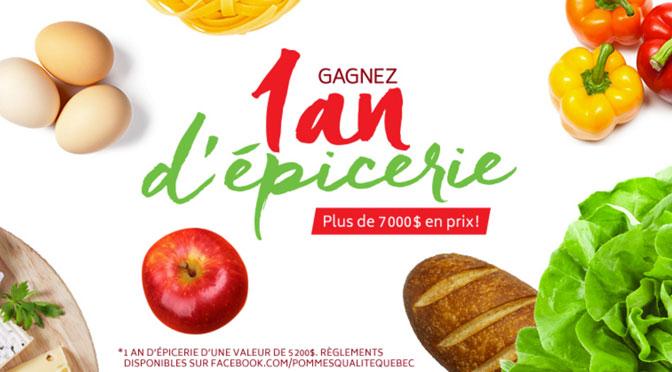 Concours 1 an d'épicerie Pomme Québec