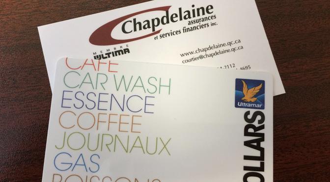 Concours carte essence Chapdelaine Assurance