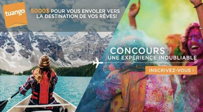 Concours tuango Voyage
