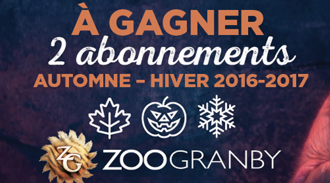 Concours Passeport vacance Zoo granby hiver