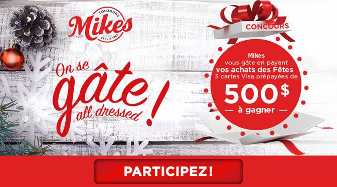 concours Mikes vous gâte pour les fêtes