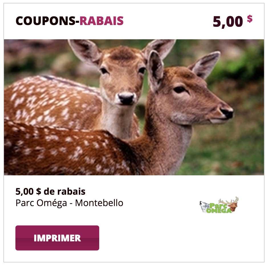 Coupon Parc Oméga