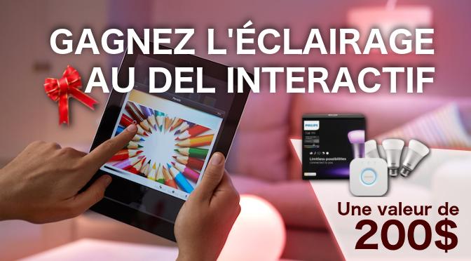 concours éclairage DEL interactif