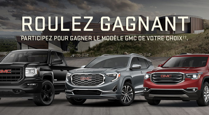 Concours Roulez gagnant 2018 GMC