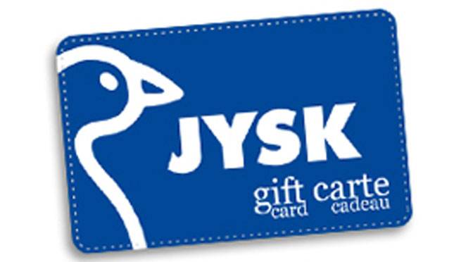 Carte-cadeau Jysk de 500$