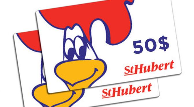 Carte-cadeau 50$ st-hubert