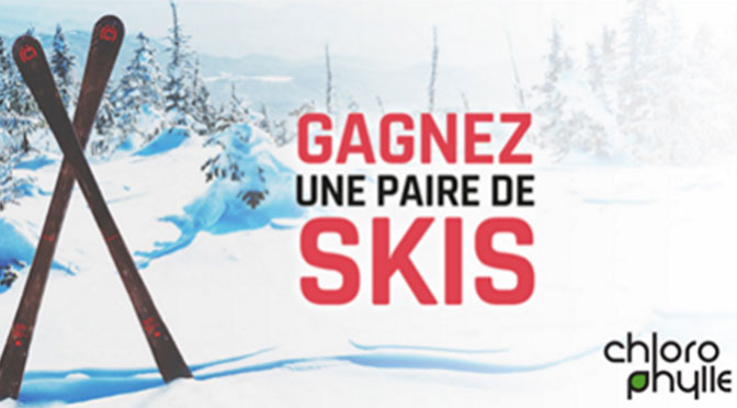 Pare de skis Chlorophylle à gagner concours