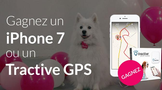 iphone 7 et tractive gps