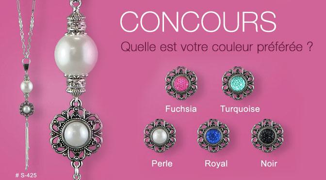 Concours Bijoux et colier Marie-Claire Carriere