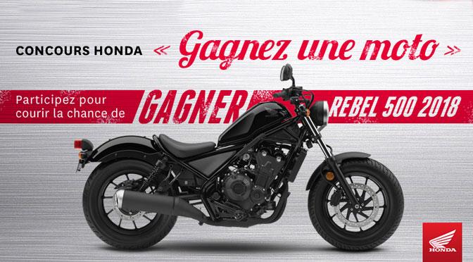 Concours Moto Honda 2018