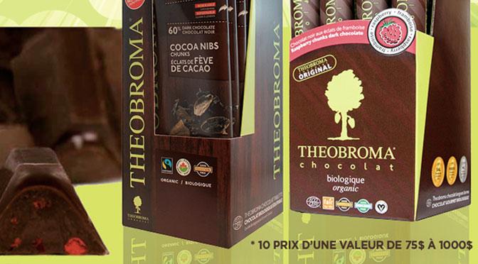 1an de chocolat Theobroma à gagner
