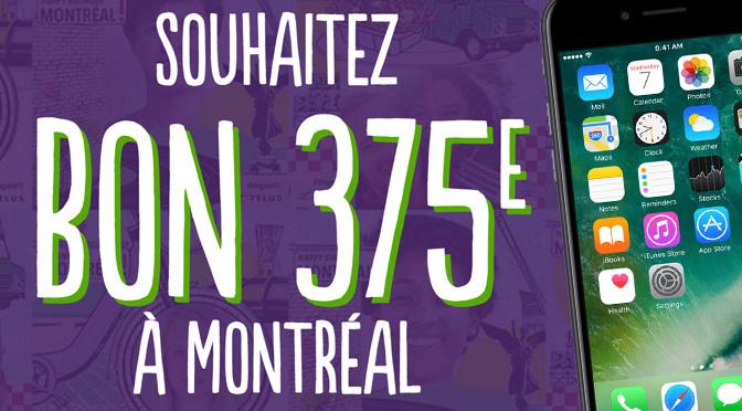 Concours Telus Bon 375e Montréal
