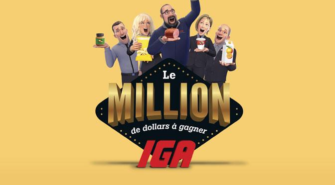 Concours IGA Million de dollar à gagner