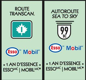 Vignette autoroute Monopoly 2018