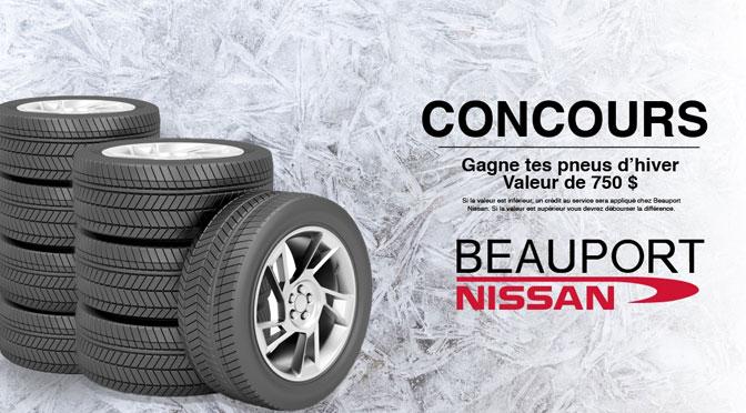 Concours Pneu d'hiver Beauport Nissan !