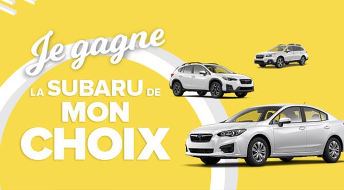 Concours Subaru de Promutuel