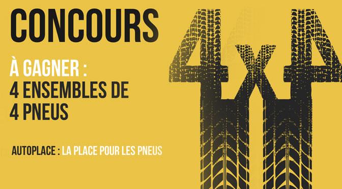 Concours Pneu Été 2018 AutoPlace