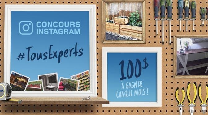 Gagnez l'une des 8 cartes-cadeau d'une valeur de 100$ au concours «Tous experts»