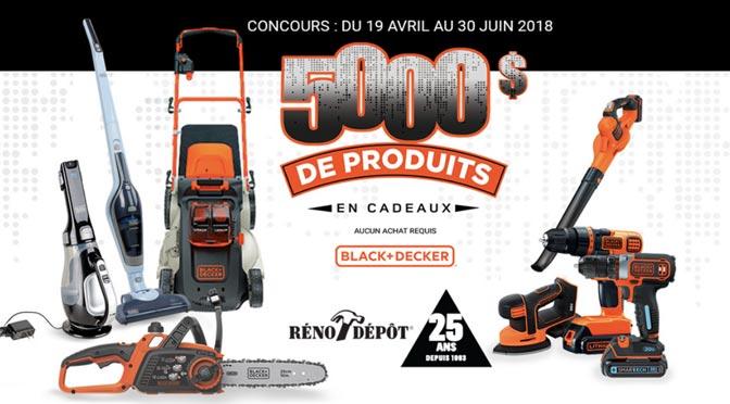 Gagnez 5 000 $ en produits Black & Decker au CONCOURS organisé par RONA inc.