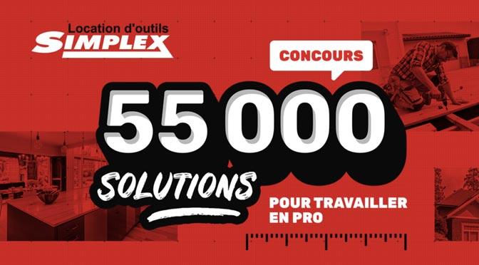 5000 $ à Gagner au concours « 55 000 solutions pour travailler en pro » de Simplex